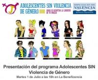 Ven a la presentación de Adolescentes SIN Violencia de Género